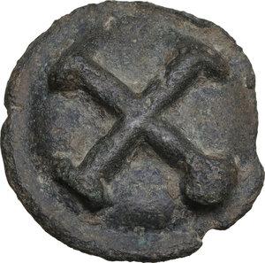 reverse: Northern Apulia, Luceria. Light series. AE Cast Quincunx, c. 217-212 BC