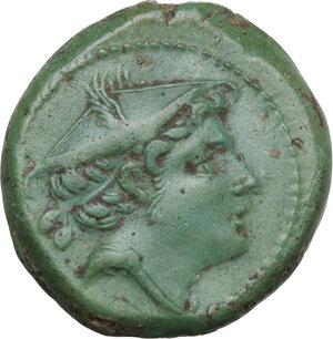 obverse: Semilibral series. AE Semuncia, c. 217-215 BC