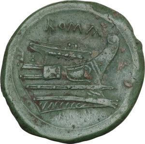 reverse: Semilibral series. AE Semuncia, c. 217-215 BC