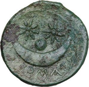reverse: Anomalous Semilibral series. AE Uncia, c. 217-215 BC