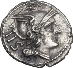 obverse: Anonymous. AR Sestertius, from 211 BC
