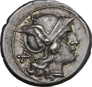 obverse: Anonymous. AR Denarius, c. 210 209 BC