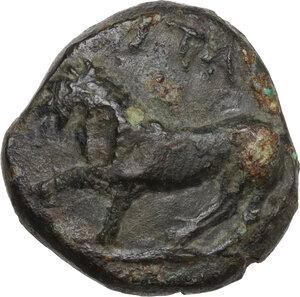 obverse: Northern Apulia, Teate. AE 17.5 mm. 325-275 BC