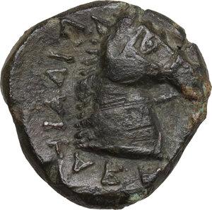 reverse: Northern Apulia, Teate. AE 17.5 mm. 325-275 BC