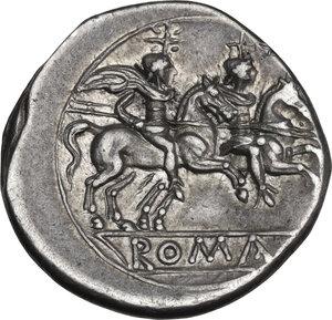reverse: Anonymous. AR Denarius, c. 210 -209 BC