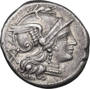 obverse: Cornucopiae (first) series. AR Denarius, c. 207 BC