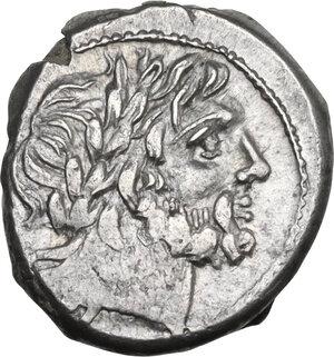 obverse: Corn-ear (third) series. AR Victoriatus, 211-210 BC, Sicily