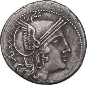 obverse: Corn-ear (third) series. AR Denarius, c. 211-210 BC, Sicily