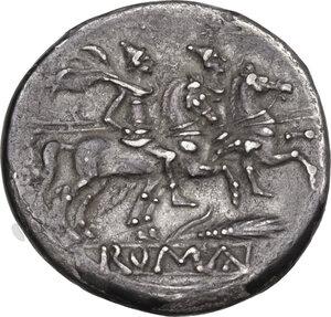 reverse: Corn-ear (third) series. AR Denarius, c. 211-210 BC, Sicily