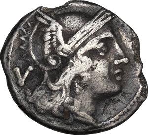 obverse: Dolabella series. AR Quinarius, c. 209-208 BC. Sicily