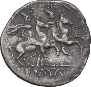 Staff series. AR Denarius, c. 209-208 BC, Sicily