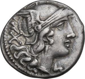 obverse: Staff series. AR Denarius, c. 209-208 BC, Sicily
