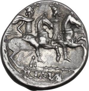 reverse: Staff series. AR Denarius, c. 209-208 BC, Sicily