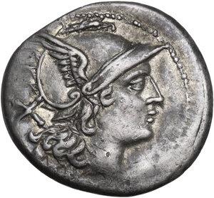 obverse: Dolphin (first) series. AR Denarius, c. 209-208 BC, Sicily (?)