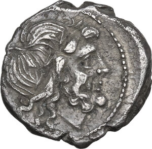 obverse: CROT series. AR Victoriatus, 211-208 BC
