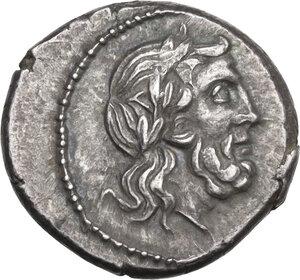 obverse: VB series. AR Victoriatus, 211-208 BC, uncertain mint