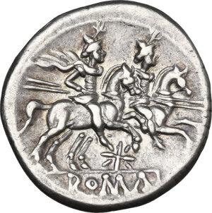 reverse: Star (first) series. AR Denarius, 206-195 BC