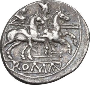 reverse: Trident series. AR Denarius, c. 206-195 BC