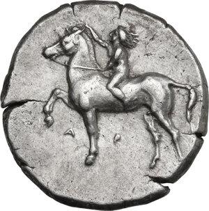 obverse: Southern Apulia, Tarentum. AR Nomos, c. 380-340 BC