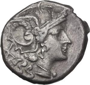 obverse: Pentagram (second) series. AR Denarius, uncertain mint, c. 206-200 BC