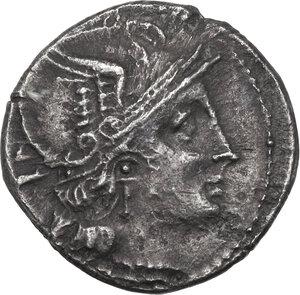 obverse: Owl series. AR Denarius, c. 194-190 BC