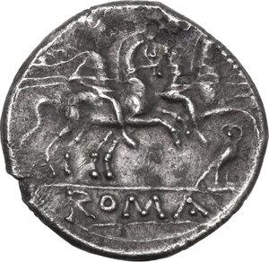 reverse: Owl series. AR Denarius, c. 194-190 BC