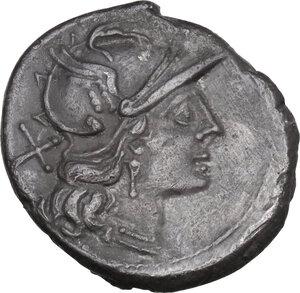 obverse: L. Autronius . AR Denarius, c. 189-180 B.C