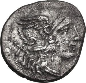 obverse: D series. AR Denarius, 199-170 BC