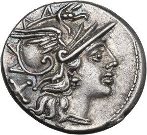 obverse: Pinarius Natta. AR Denarius, 149 BC