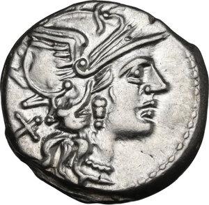 obverse: C. Renius. AR Denarius, 138 BC