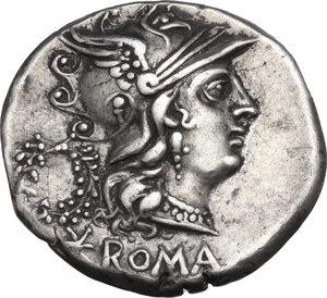 obverse: C. Servilius M.f. AR Denarius, 136 BC