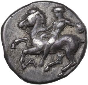 obverse: Southern Apulia, Tarentum. AR Nomos, c. 380-370 BC