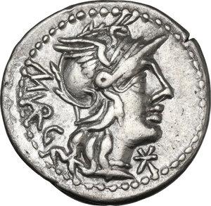 obverse: M. Vargunteius. AR Denarius, 130 BC