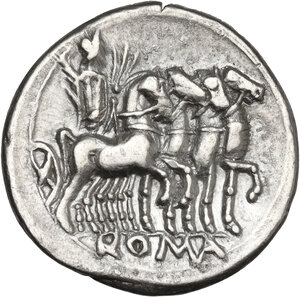 reverse: M. Vargunteius. AR Denarius, 130 BC