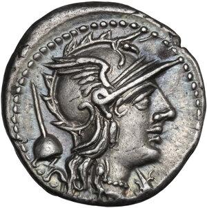 obverse: T. Quinctius Flamininus . AR Denarius, 126 BC