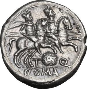 reverse: T. Quinctius Flamininus . AR Denarius, 126 BC
