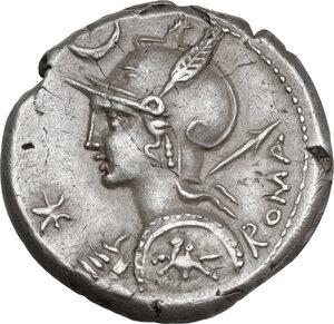 obverse: P. Nerva. AR Denarius, 113-112 BC