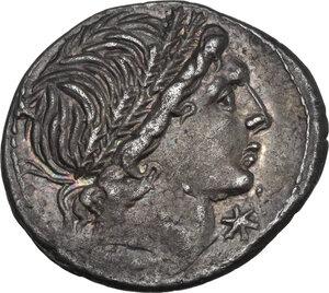 obverse: L. Memmius. AR Denarius, 109-108 BC