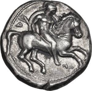 obverse: Southern Apulia, Tarentum. AR Nomos, c. 340-332 BC