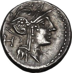 obverse: D. Silanus L.f. AR Denarius, 91 BC