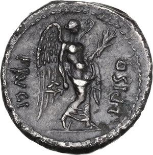 reverse: L. Calpurnius Piso Frugi. AR Quinarius, 90 BC