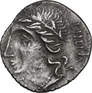 obverse: The Bellum Sociale, Marsic Confederation. AR Denarius, Bovianum mint (?) 89 BC