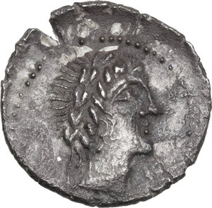 obverse: The Bellum Sociale, Marsic Confederation. AR Denarius, 89 BC, Corfinium mint