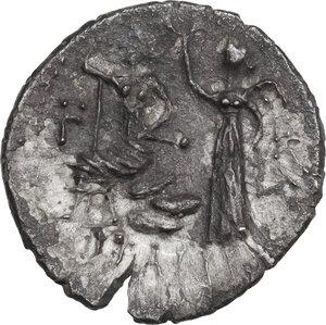 reverse: The Bellum Sociale, Marsic Confederation. AR Denarius, 89 BC, Corfinium mint