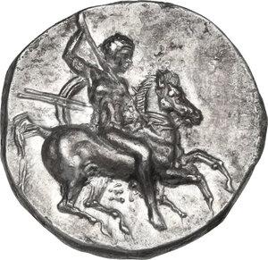 obverse: Southern Apulia, Tarentum. AR Nomos, c. 334-330 BC