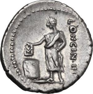 L. Cassius Longinus. AR Denarius, 63 BC
