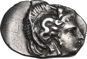 obverse: Southern Apulia, Tarentum. AR Diobol, c. 325-280 BC. BC