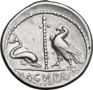 Cn. Pompeius Magnus. AR Denarius, mint moving with Pompey, 49 a.C