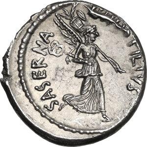 reverse: L. Hostilius Saserna. AR Denarius, 48 BC