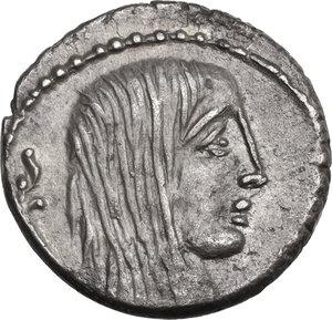 obverse: L. Hostilius Saserna. AR Denarius, 48 BC